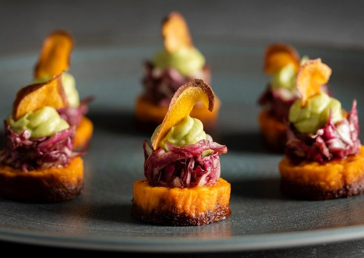 colourful canapés